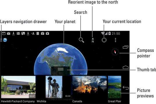 ���� - Die Erde App auf dem Android-Handy