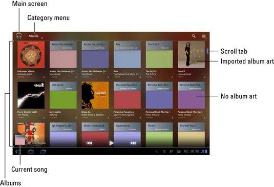 ���� - Das Galaxy Tab Musikbibliothek