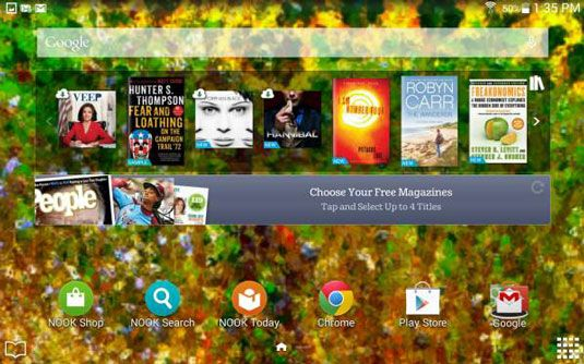 ���� - Die Google Search Bar auf Ihrem Galaxy Tab 4 NOOK