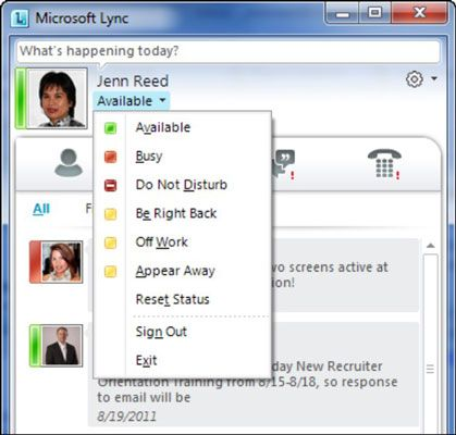 ���� - Die Lync Online User Interface