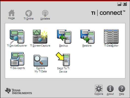 ���� - TI Connect Software für den TI-84 Plus