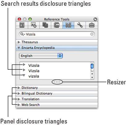 ���� - Mit Word 2008 für Mac Online Referenz-Tools