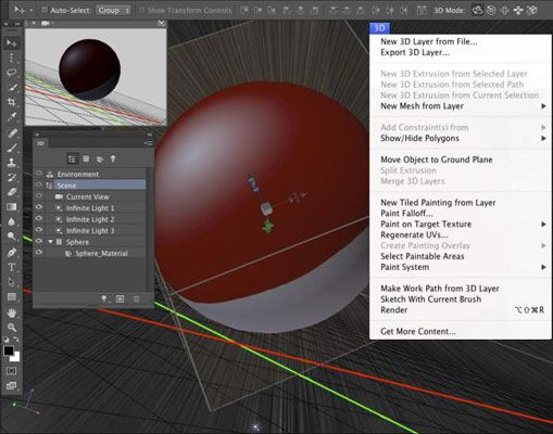 ���� - Arbeiten mit 3D-Grafik in Photoshop CC