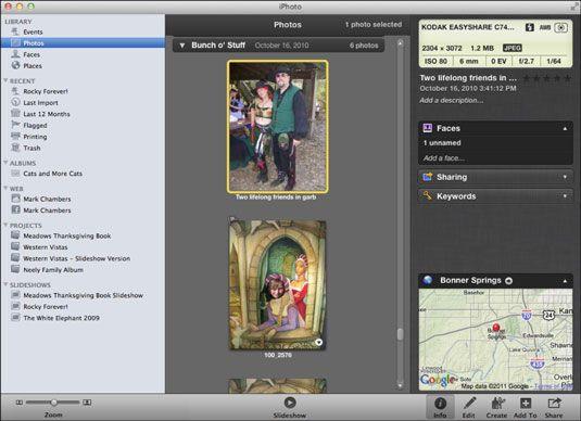 ���� - Die Arbeit mit Gesichter und Orte in iPhoto auf Ihr MacBook
