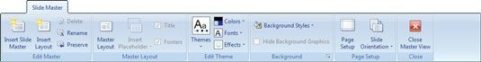 ���� - Arbeiten Sie mit dem Folienmaster und Bearbeiten Stamm Tabs in Powerpoint 2007