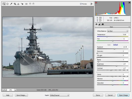 ���� - Arbeiten mit Camera Raw Bilder in Photoshop Elements 9