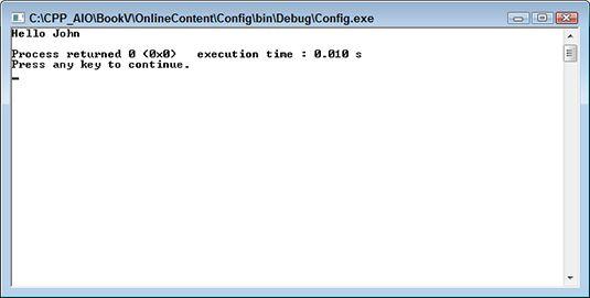 ���� - Arbeiten mit Konfigurationsdateien
