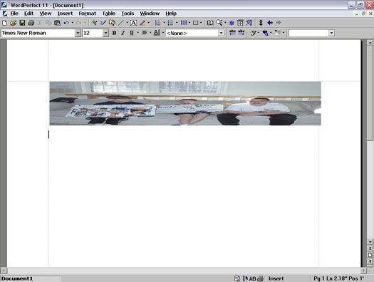 ���� - Arbeiten mit Grafiken in Wordperfect 11