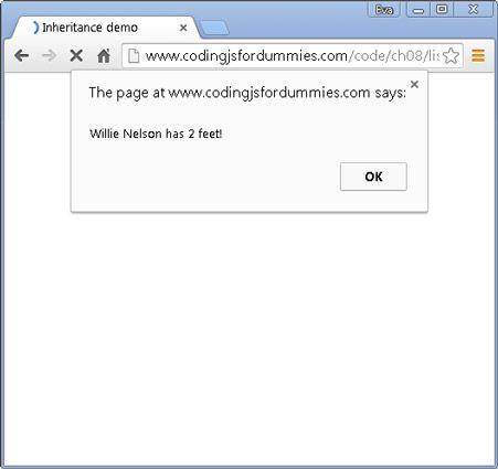 ���� - Arbeiten mit Vererbung zu Code mit javascript