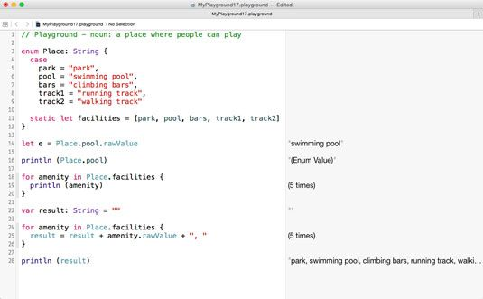 ���� - Die Arbeit mit den Mitgliedern einer Enumeration in Swift