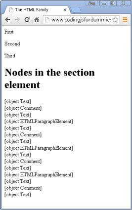 ���� - Arbeiten mit Knoten Beziehungen zu Code mit javascript