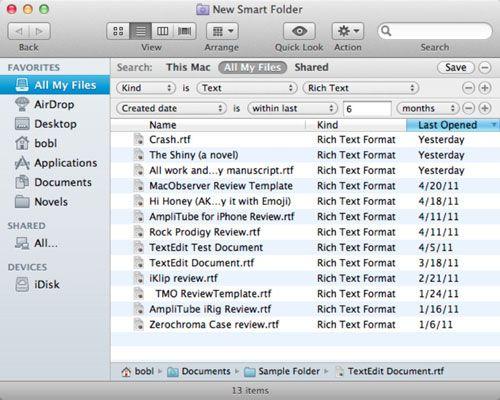 ���� - Arbeiten mit intelligenten Ordnern in Mac OS X Lion