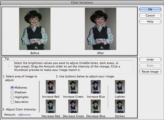 ���� - Arbeiten mit dem Farbvariationen Befehl in Photoshop Elements 9