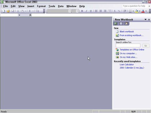 ���� - Arbeiten mit dem Aufgabenbereich in Office 2003