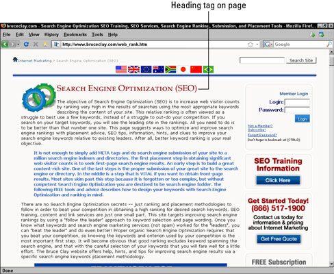 ���� - Schreiben effektive Körper Rubriken zu besseren Suchmaschinen-Rankings