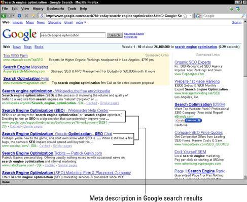 ���� - Schreiben Effektive Meta-Beschreibungen für eine bessere Suchmaschinen-Ranking