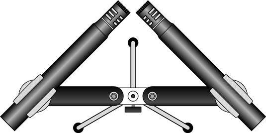 Die X-Y-Stereo-Mikrofon-Ansatz verwendet zwei abgestimmte Mikrofone dicht nebeneinander platziert.